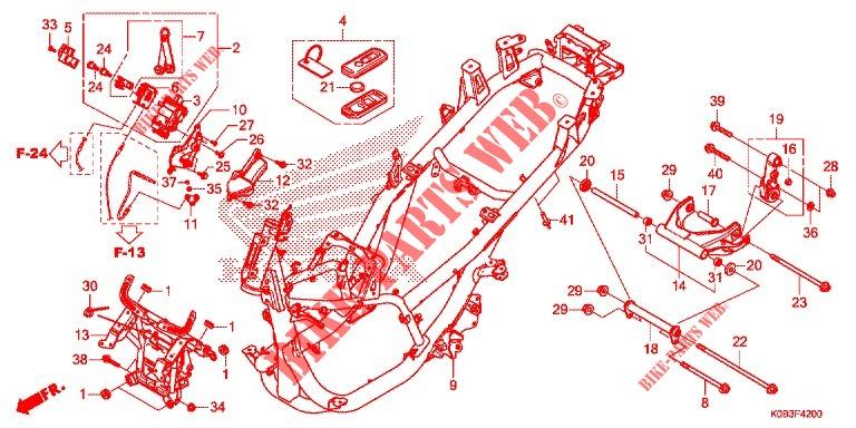 Frame For Honda Forza 300 Abs 2018 2019   Honda