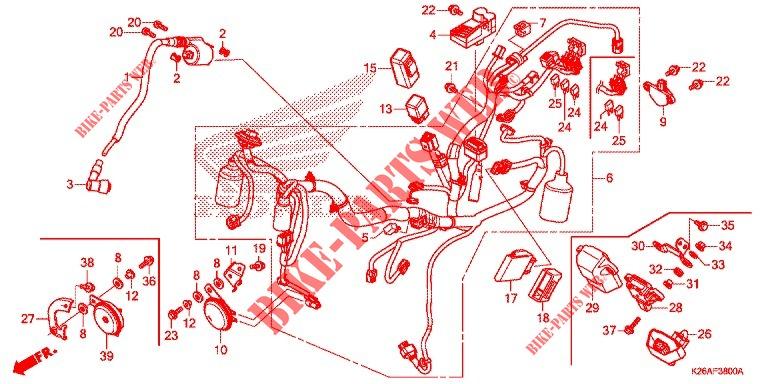 Wire Harness  Battery For Honda Grom 125 2020   Honda