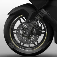 Wheel rim edging Honda Forza (gold)-Honda